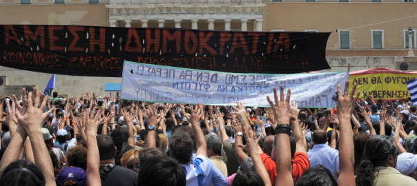20110629_Moutza_demonstrations_Greek_parliament_Athens_Greece
