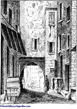 "North Gate of the Jewry at Carpentras. (From the "" Revue des Etudes Juives) --www.jewishencyclopedia.com"